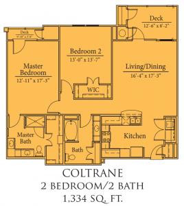 Coltrane Floorplan - Mariposa Apartment Homes at Clear Creek