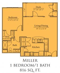 Miller Floorplan - Mariposa Apartment Homes at Clear Creek